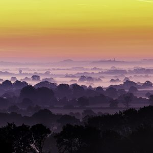 Shropshire panoramic sunrise by David Jones