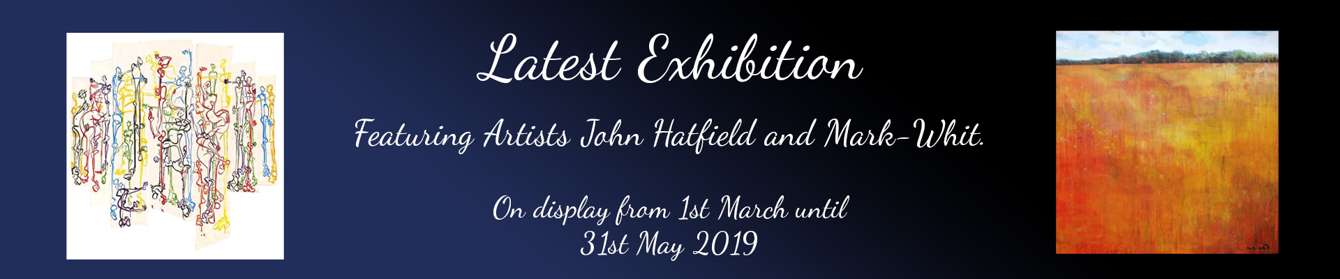 March Exhibition Banner