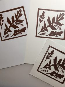 Lino Prints from a Etching press