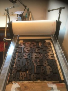 Printing Letterpress on the Ironbridge Printing press