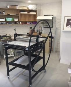 Studio with Ironbridge etching press