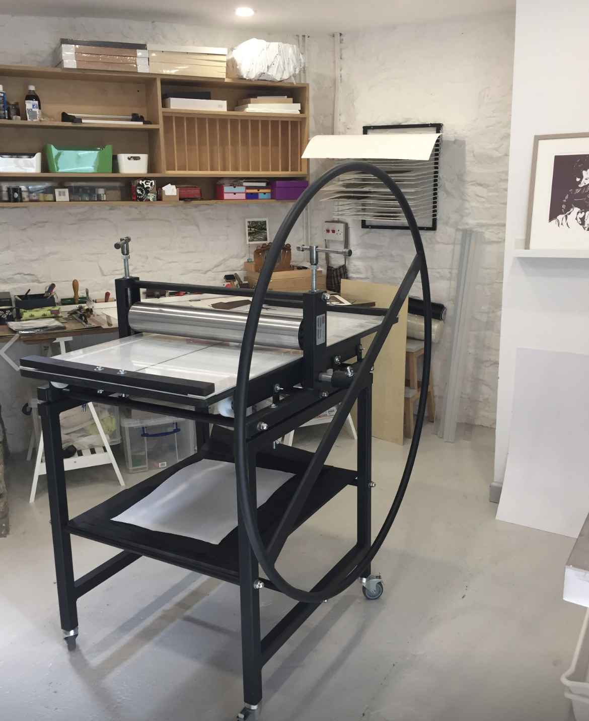 Studio with Ironbridge etching press