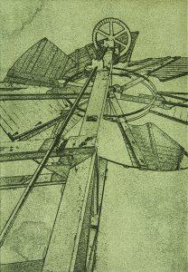 Photo etching printed on the Ironbridge Etching press