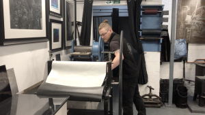 Printing on the ironbridge press