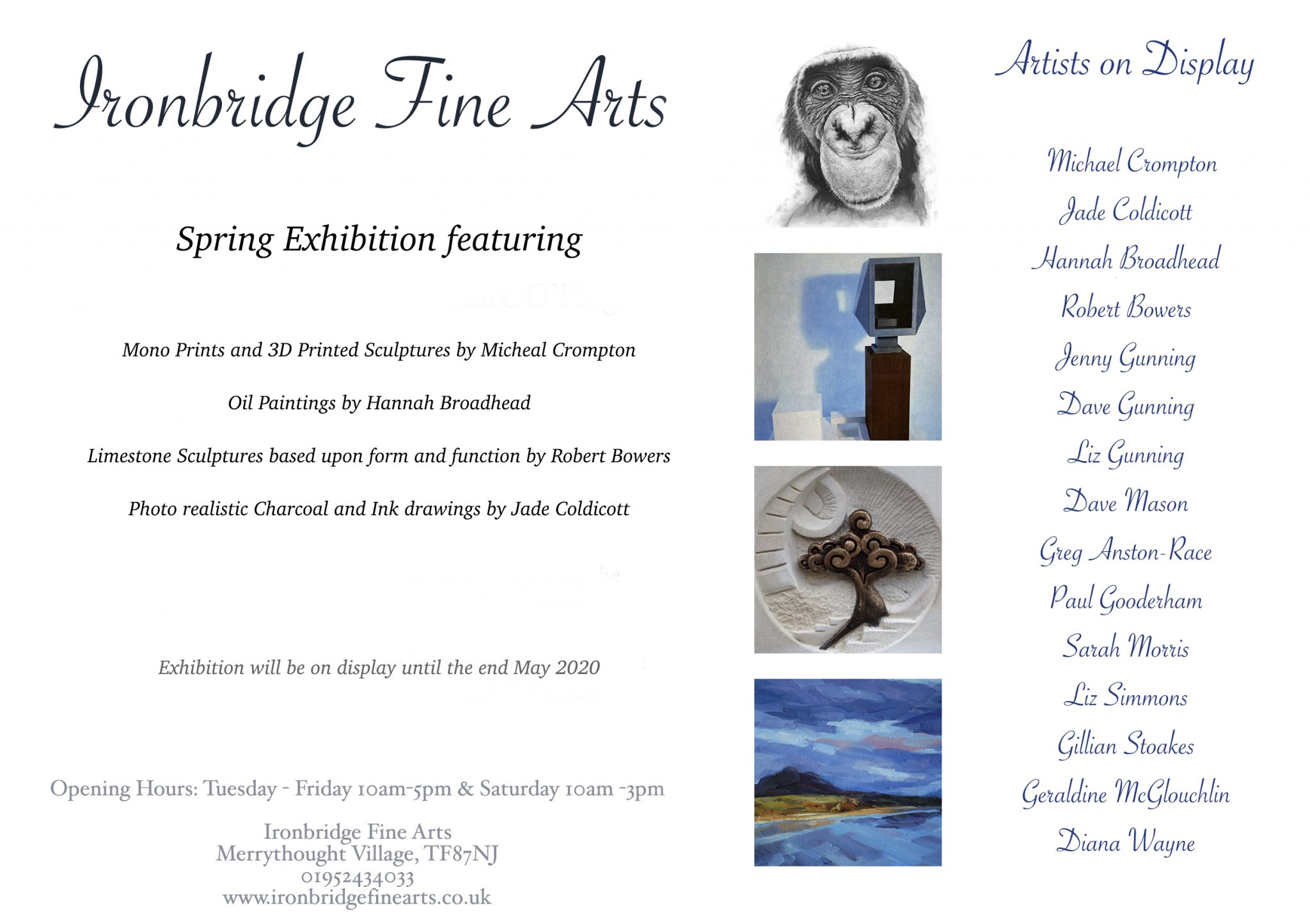 Spring 2020 Exhibition Flyer