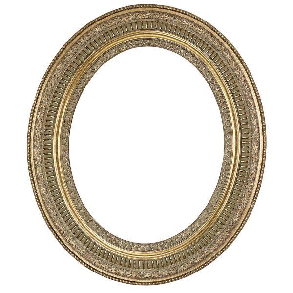 Gold-Oval-decorative-frame