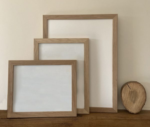Ready Made Bare faced Oak Picture Frames in standard sizes