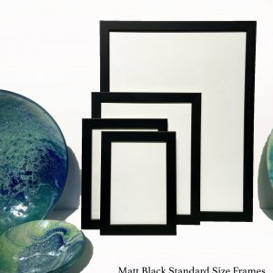 Ready Made Black Picture Frames in standard sizes