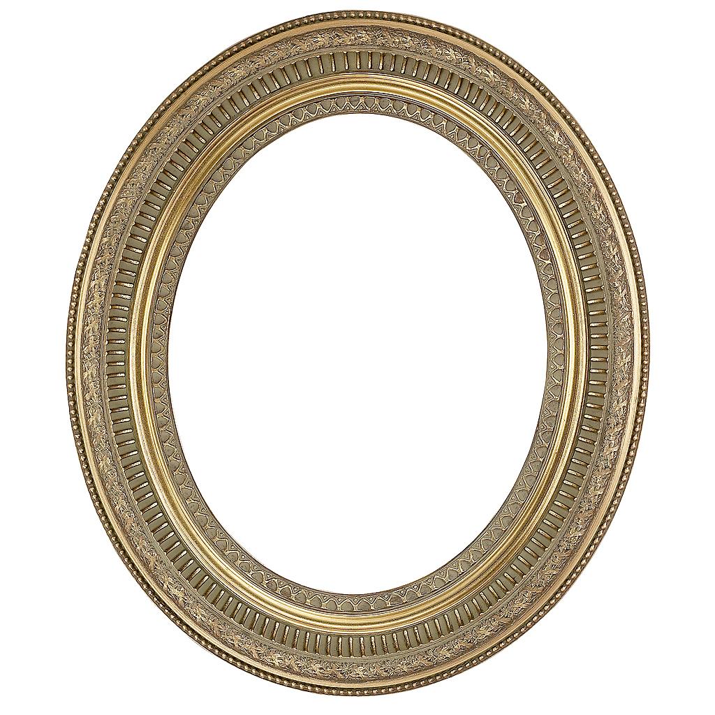 Gold Swept Oval Frame