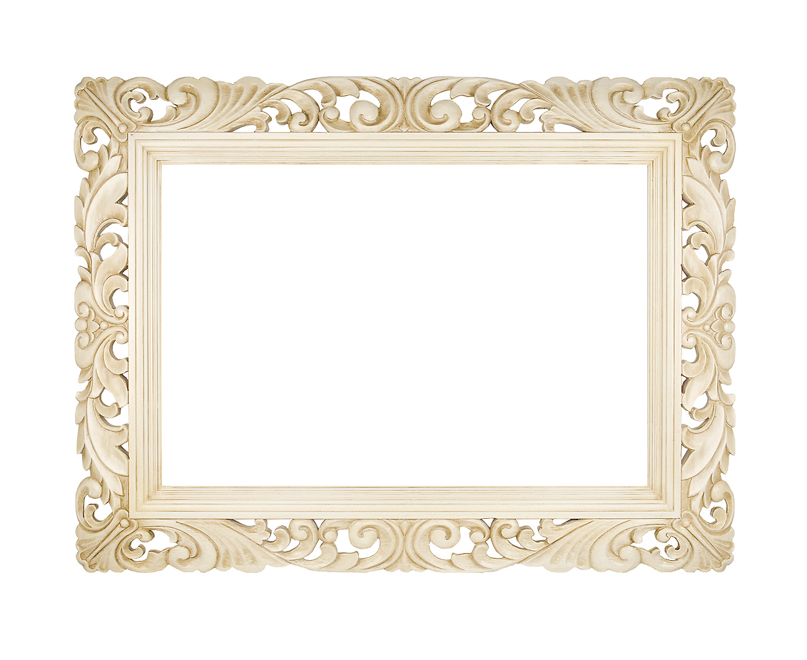 Carved Swept Frame - Available in Cream, Silver, Gold or Black