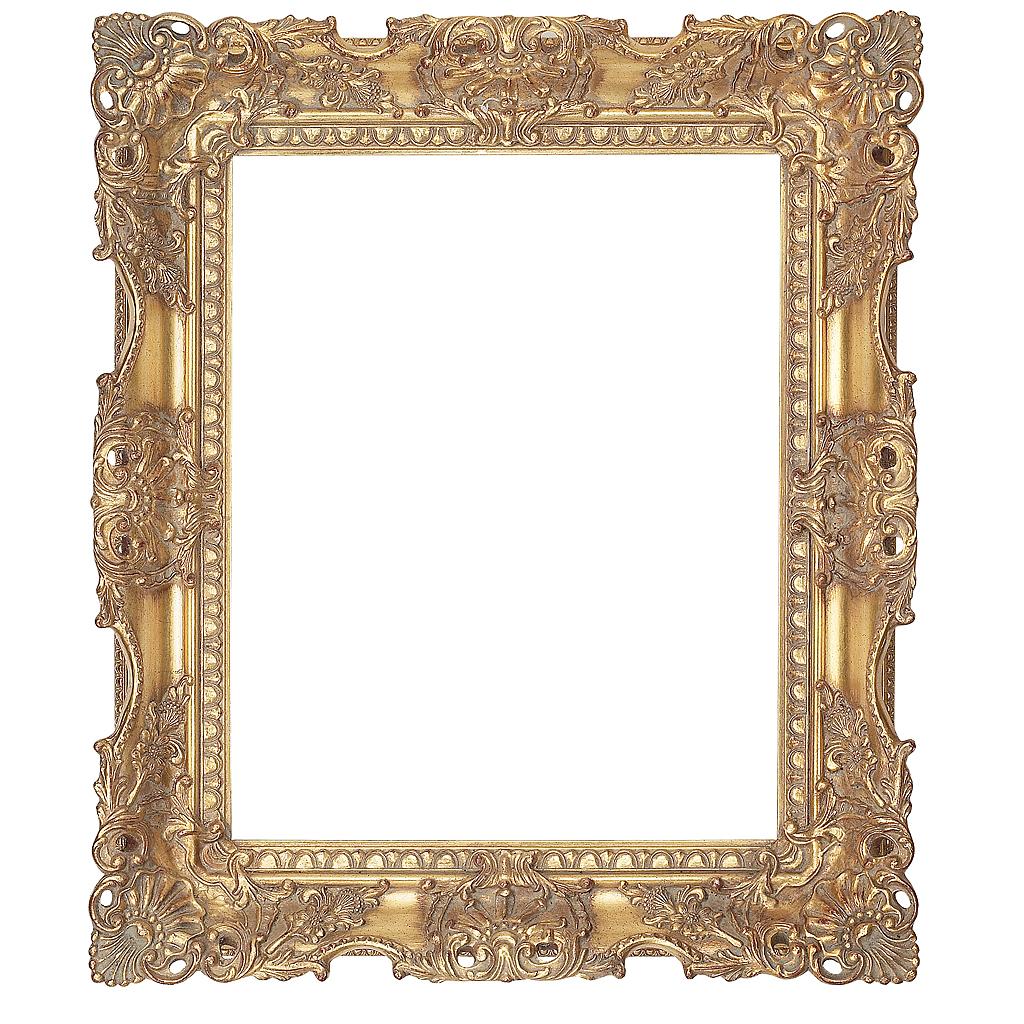 Gold Leaf Carved Swept Frame