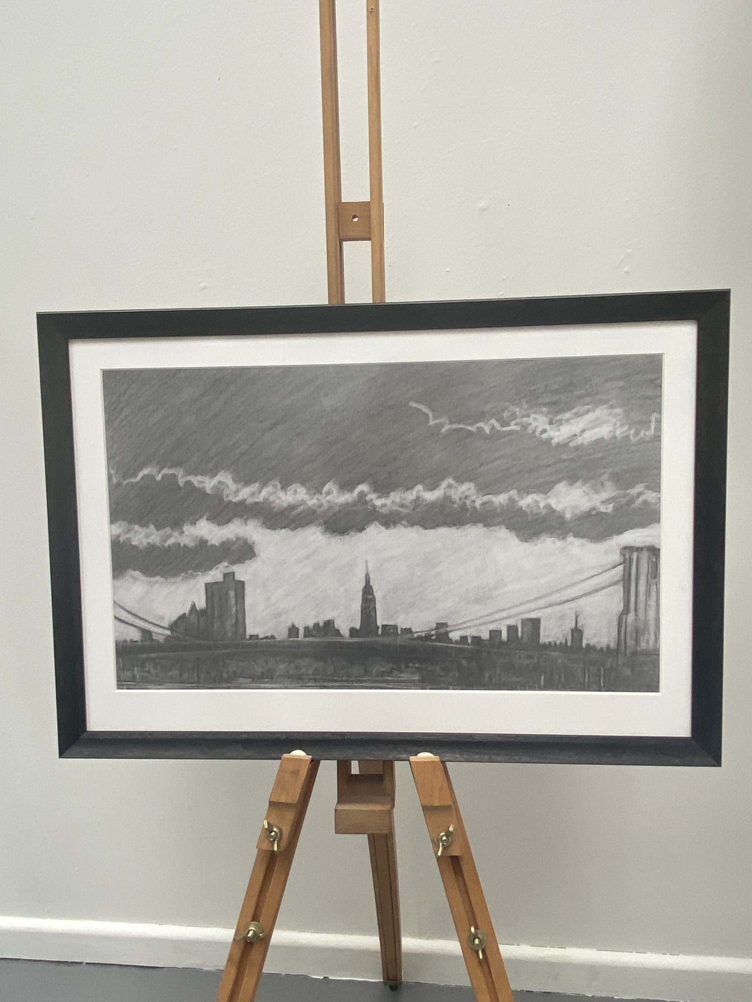 Empire State and Brooklyn Bridge, New York by Dave Gunning BA (Hons)