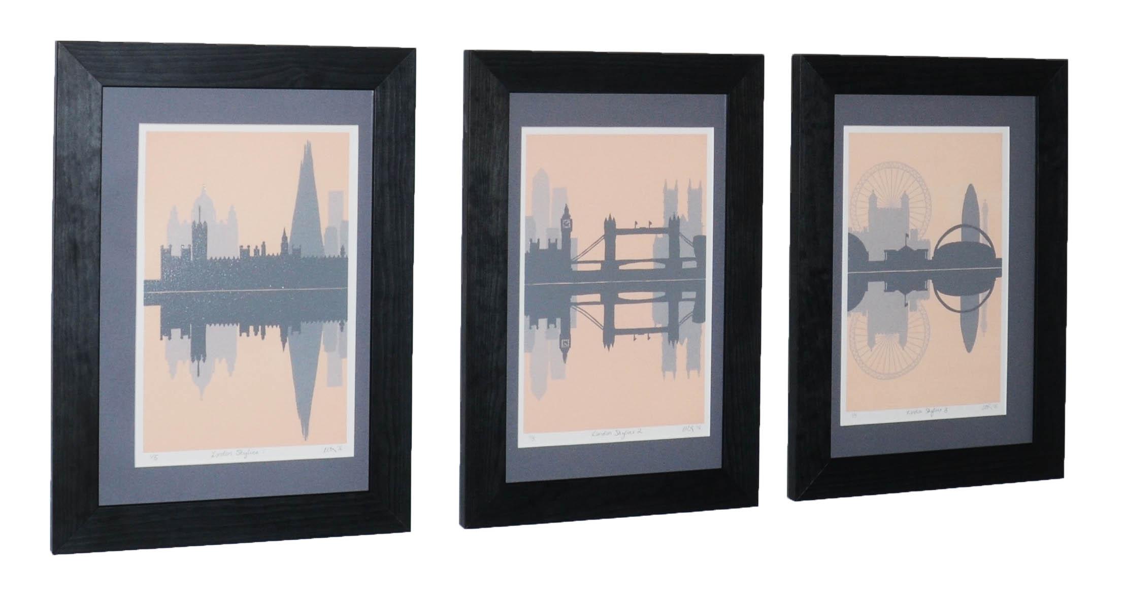 """London Skyline Tryptic II"" by Lindsay Martin"