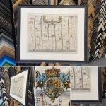 Example of finished framed Antique Map