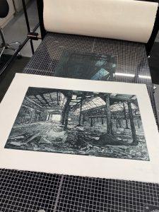 Gunning Etching Press with Artwork by Jenny Gunning