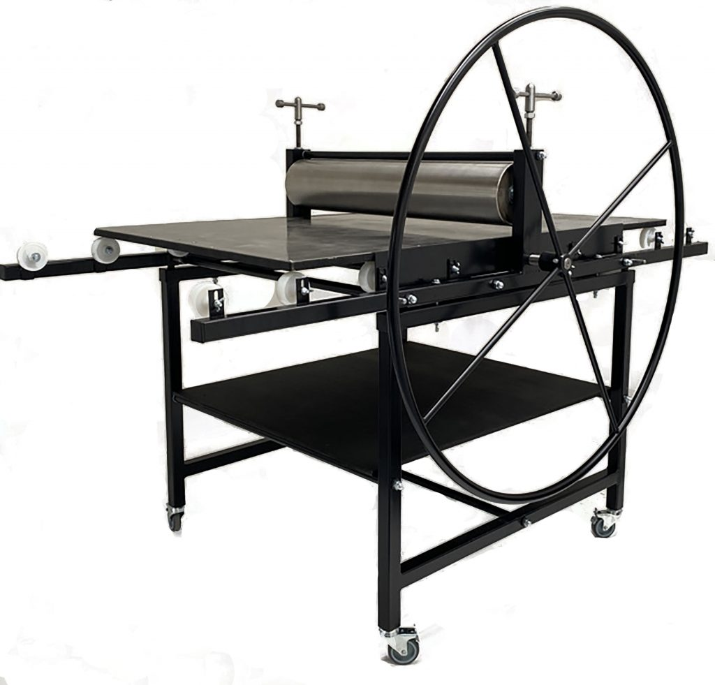 this shows the Gunning Etching Press No 4