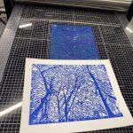 Lino Print by Jenny Gunning