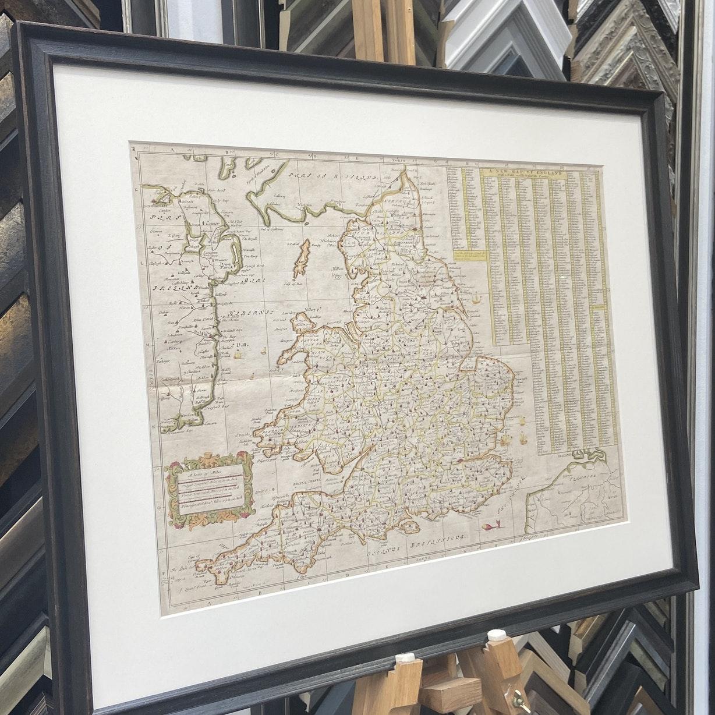 John Ogilby Framed Map