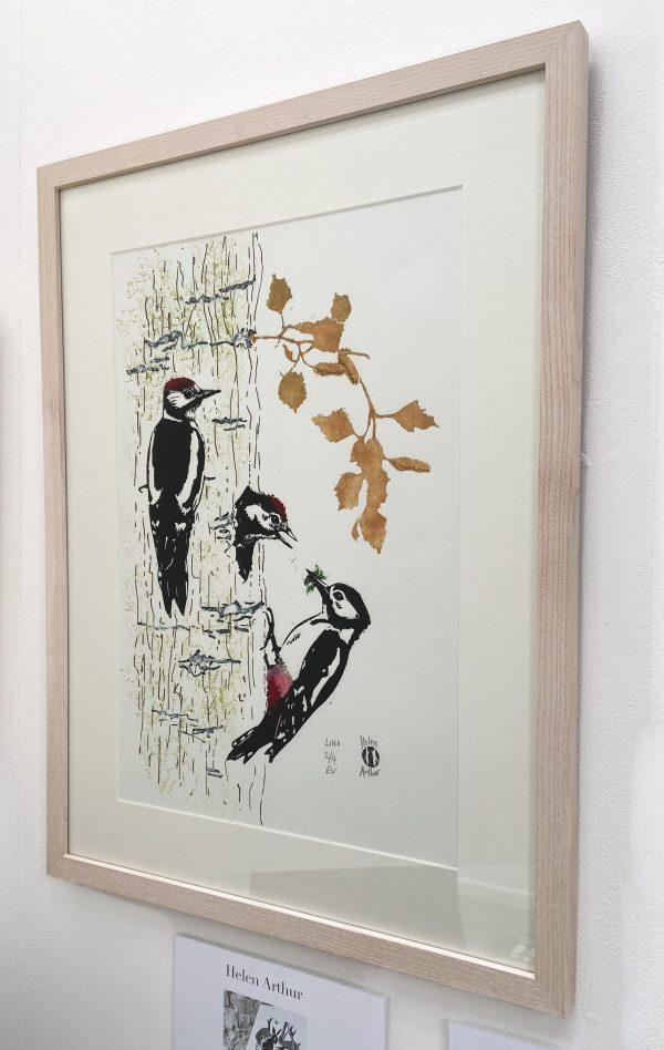 Woodpecker Family by Helen Arthur