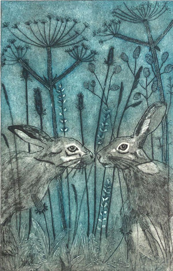 Collagraph Print by Sarah Delahoy