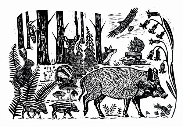 Sarah Delahoy Linocut Print