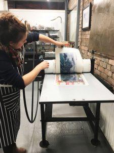 Gunning-workshops-printing-carberundum-plate